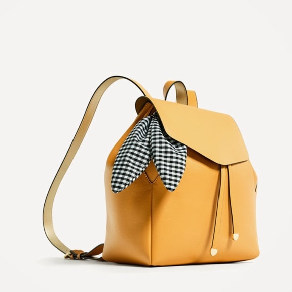 eb608d33419 Zara yellow backpack satchel bag faux leather. M_5bf56e172beb799e36426c50